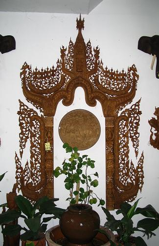 hand carved panels and